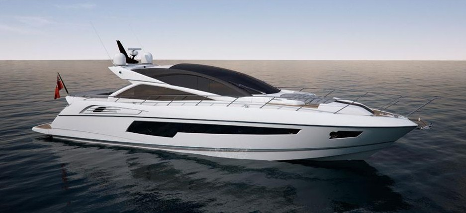 2013 Sunseeker 68′ hot rod!  Fast, luxurious, and extremely spacious inside