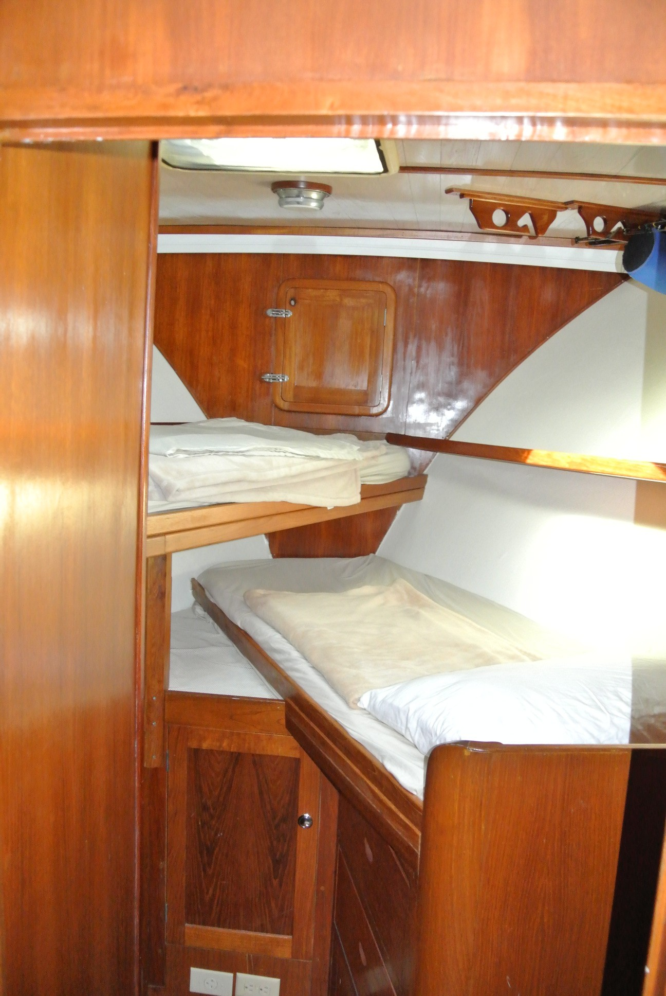 V-berth stateroom . Each Stateroom has it's own AC unit.