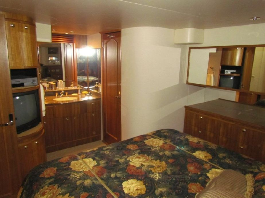 Master Stateroom. The vanity is at the top of the photo.