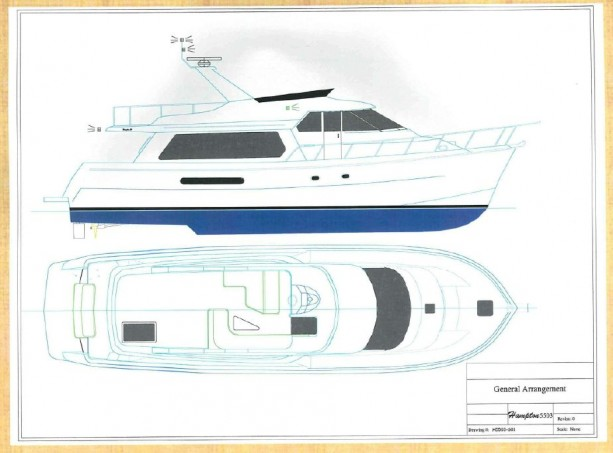 55' Hampton profile drawing