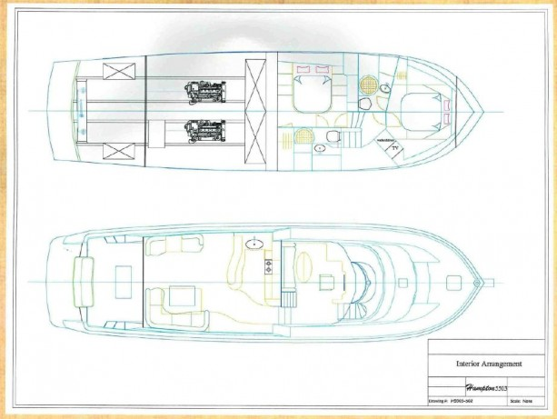 55' Hampton Layout Drawing