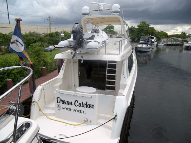The 2003 (I sold to her current owners in 2012) and is asking $495k. She's gorgeous. Twin 480 hp Cummins.