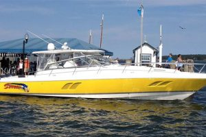2009 47′ Intrepid 475 – Quad 350hp Yamaha's.  Two Stateroom model.  Why go slow?