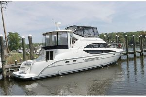 2006 Meridian 459 One owner since new.  ONLY 430 hours on 380 hp QSB Cummins. SOLD